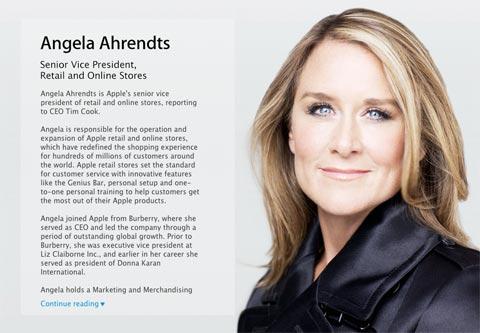 Perfil de Angela Ahrendts
