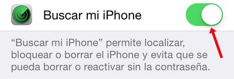 ¿Está activado buscar mi iPhone?