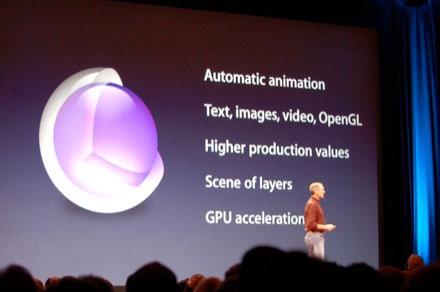 Core Animation en la Keynote de presentación del iPhone