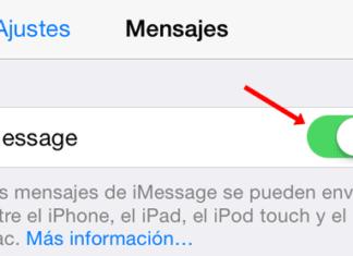 Desactivando iMessage