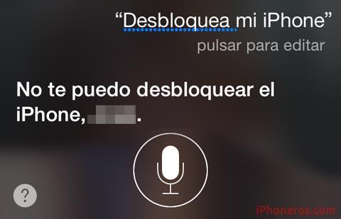 Desbloquea mi iPhone preguntado a Siri