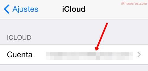 ¿Hay cuenta de iCloud configurada?