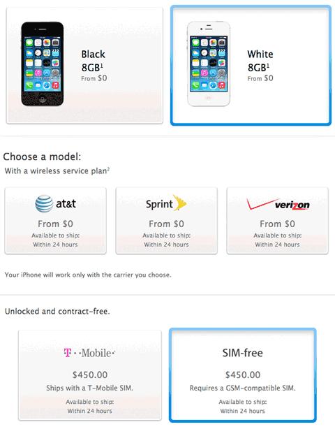 iPhone 4S todavía a la venta