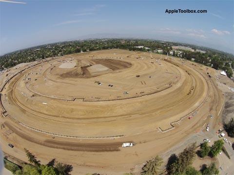 Terrenos de la nave espacial de Apple