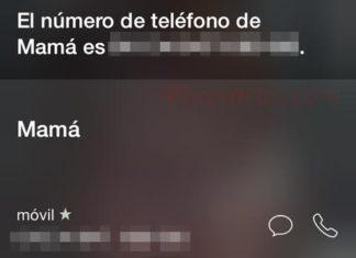 Número disponible para Siri