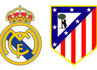 Escudos del Real Madrid y del Atlético de Madrid