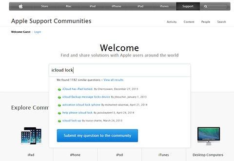 Foro de soporte de Apple
