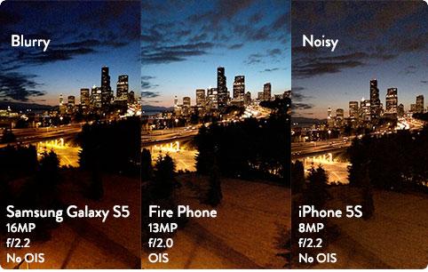 Comparación cámaras del iPhone 5S, Galaxy S5, Fire