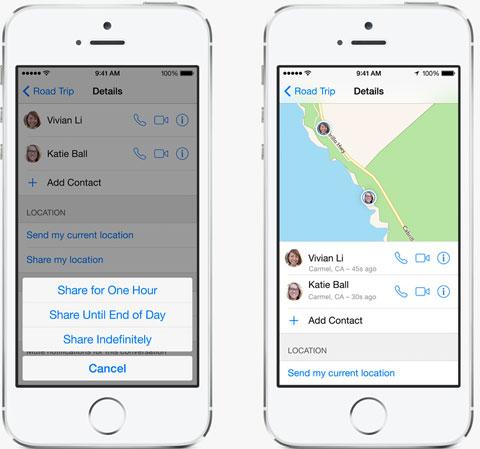 Compartiendo ubicación con Mensajes