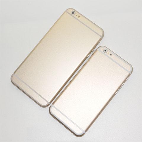 Maquetas comparativas del supuesto iPhone 6 en dos tamaños