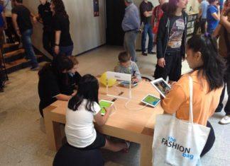 Zona de niños en la Apple Store de la Puerta del Sol
