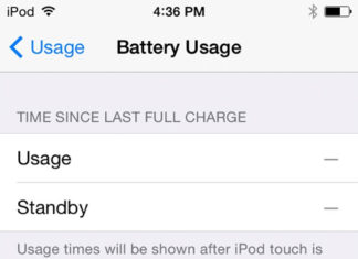Uso de batería en iOS 8