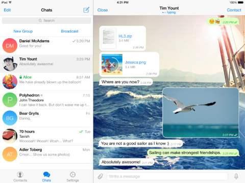 Telegram en el iPad