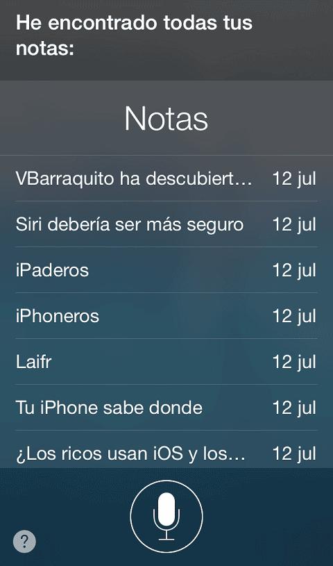 Notas desde Siri