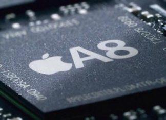 SoC (CPU con GPU y RAM) A8 de Apple