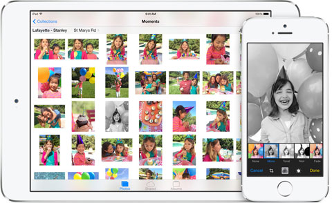 App de Fotos en iOS 8, edición online