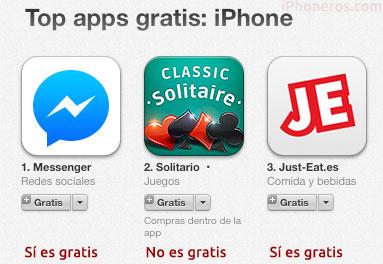 Apps gratis que no son gratis