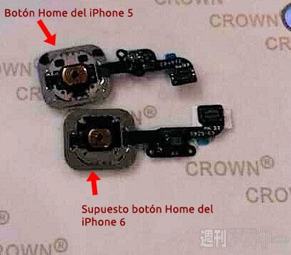 Supuesto botón Home del iPhone 6