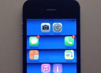 espacios entre iconos en iOS