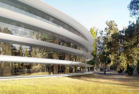 Nave interplanetario del Campus dos de Apple