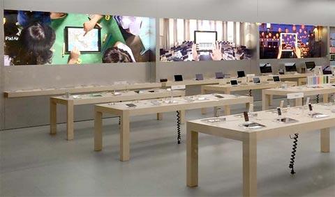 Nuevas imágenes en los muros de las Apple Store