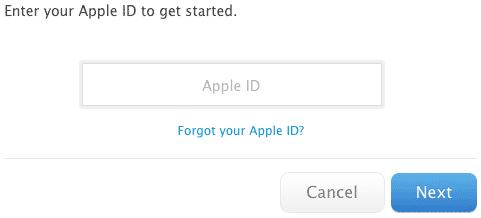 Reseteando la contraseña del Apple ID