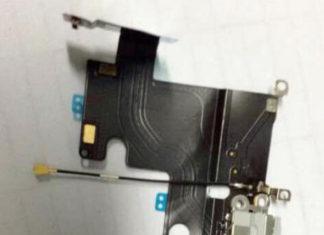 Supuesta pieza conector Lightning y minijack del iPhone 6