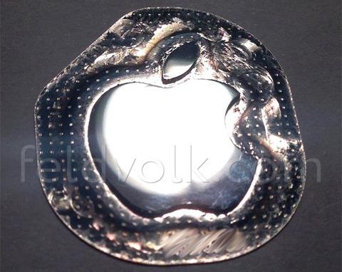 Logo metálico de Apple