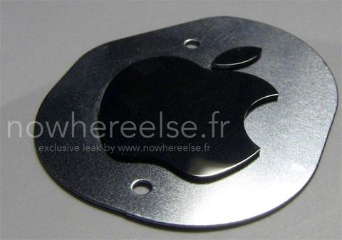Logotipo metálico de Apple
