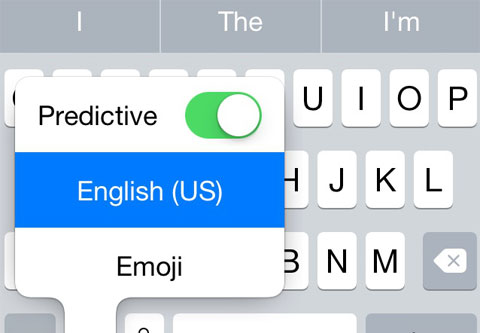 Opciones teclado predictivo