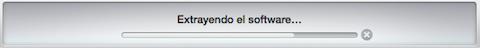 iTunes descomprimiendo el fichero del firmware de iOS 8