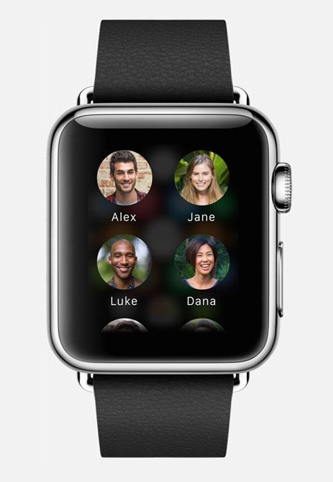 Llamar a amigos desde el Apple Watch