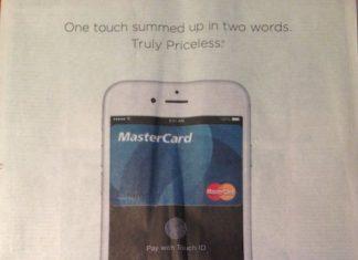 Anuncio de Master Card y Apple Pay