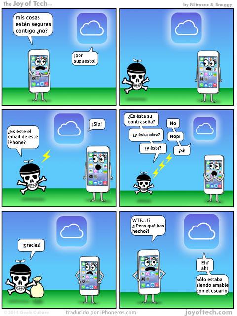 La seguridad de iCloud según Joy of Tech