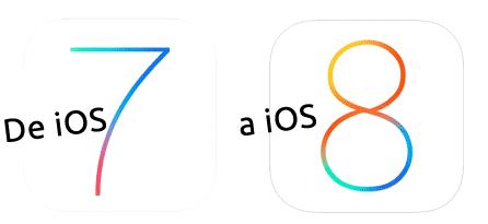 De iOS 7 a iOS 8