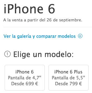 Precios del iPhone 6 libre en España