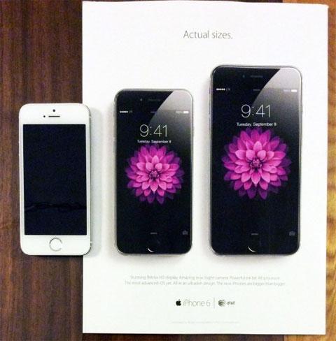 Anuncio iPhone 6 tamaño real
