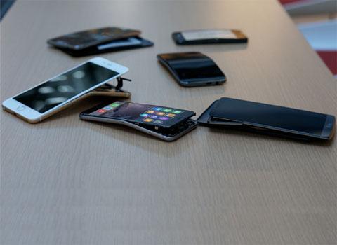Smartphones doblados
