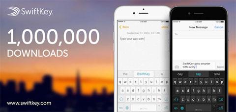 Un millón de descargas de SwiftKey en un día
