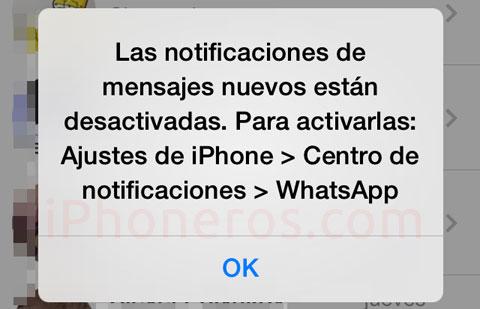 Notificaciones de Whatsapp