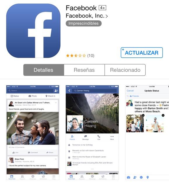 Facebook preparada para actualizarse
