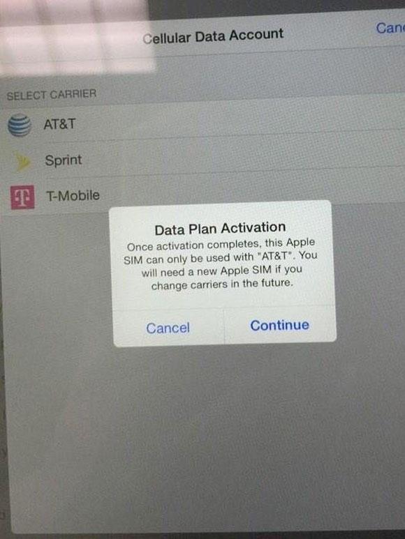 Activación AT&T en el iPad Air 2