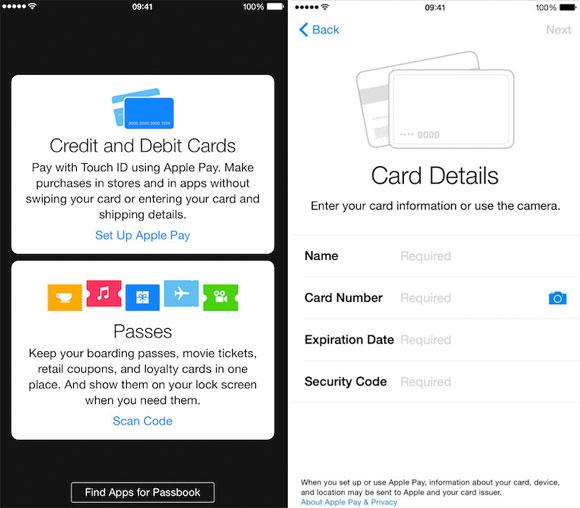 Apple Pay en iOS 8.1 beta 2