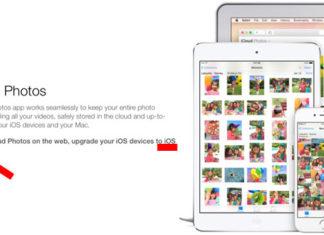 Mención a iOS 8.1 en iCloud.com