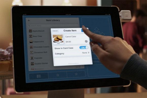 iPad con lector de tarjetas Square