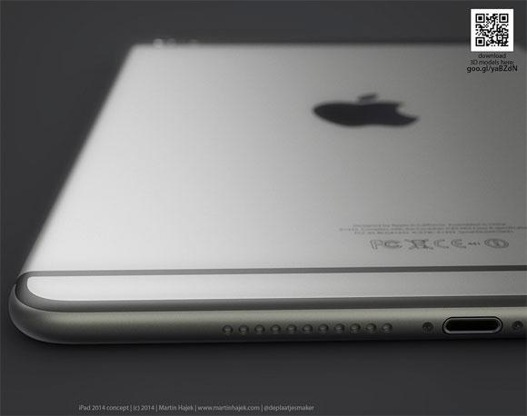 Concepto de diseño de iPad con línea de diseño de iPhone 6 de Martin Hajek