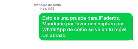 Mensaje SMS