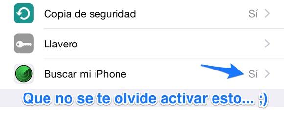 Buscar mi iPhone activado
