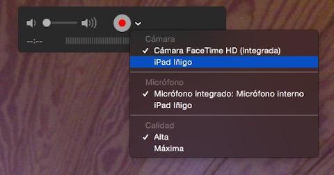 Cómo grabar un vídeo del iPhone en OS X Yosemite