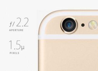 Apertura y tamaño de píxel cámara iPhone 6